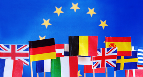 The picture shows Flags of the memberstates of the European Union. Photo & Copyright: Jürgen Haacks / Uni Kiel