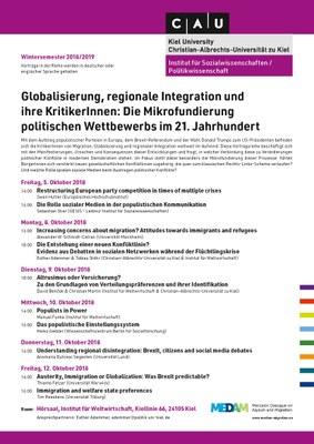 Poster Vortragsreihe